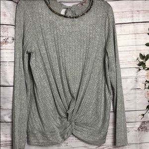 Juicy Couture front tie ribbed top